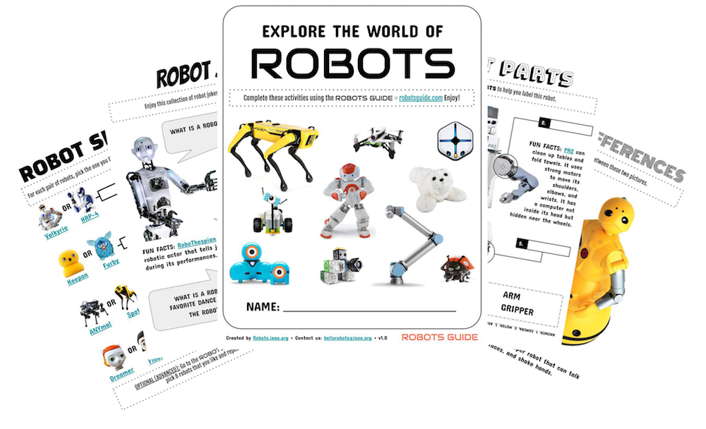 Free Activity Sheets - ROBOTS: Your Guide To The World Of Robotics